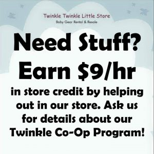 Earn $9/hr in store credit helping out.