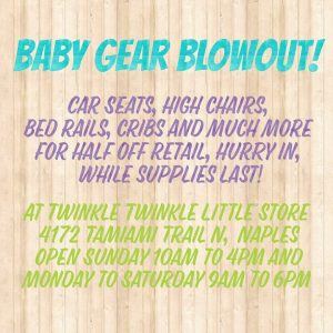baby gear blow out